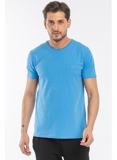 Slazenger Slazenger SANNI Erkek T-Shirt  Mavi